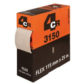 4CR 3150 FLEX - szivacsos csiszolópapír tekercs, 115 mm x 25 m, P800