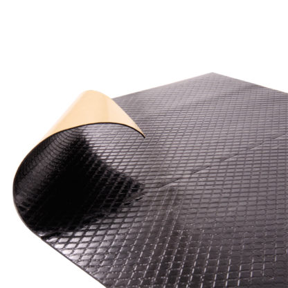 4CR 5500 Zajcsillapító lap, fekete, 50 x 50 cm