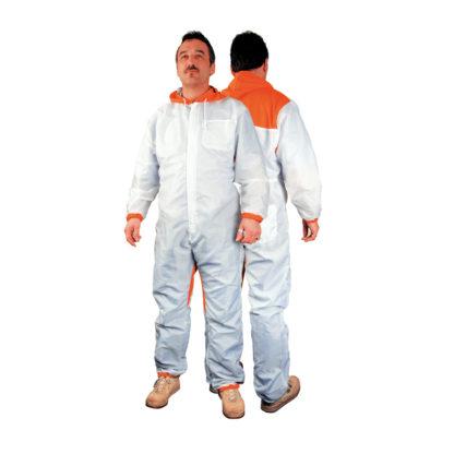 4CR 6540 Fényezőoverall - Coolfresh, fehér - narancs, XXXL