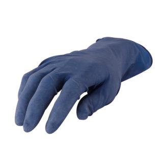 4CR 6745 Latex kesztyű - kék, púdermentes, XL