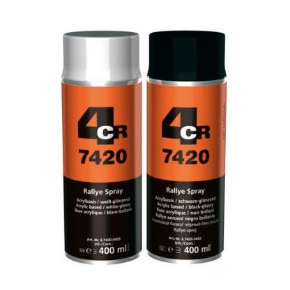 4CR 7420 Rallye Spray - fekete selyem-matt