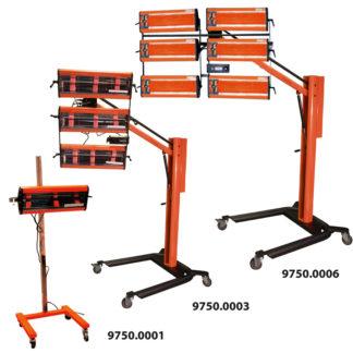 4CR 9750 Infraszárító készülék - 6 kazettás, 6 x 1050 W